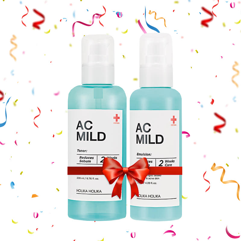 Holika Holika AC Mild Emulsion 130ml + Toner 200ml