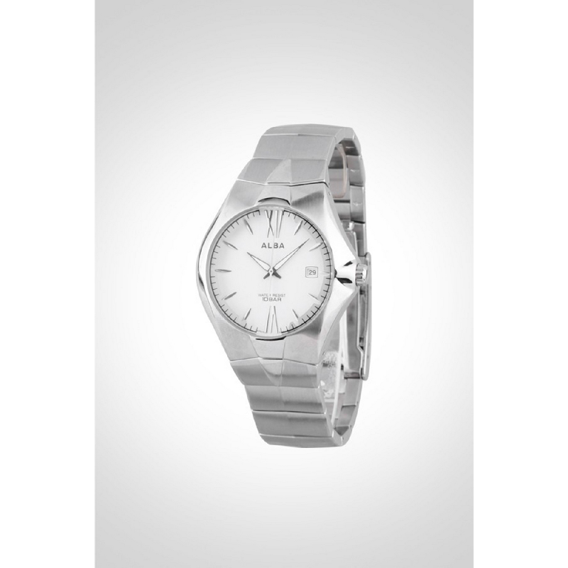 Alba AXDN29 Analog Watch Silver
