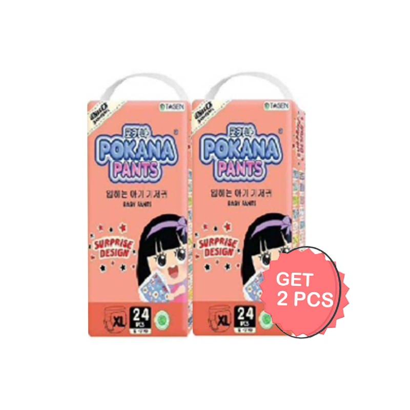 Pokana Diaper Pants Jumbo Pack Size Xl 24S (Get 2)