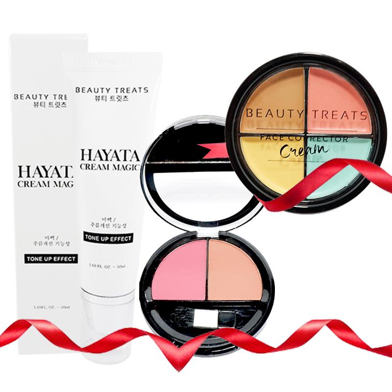Beauty Treats Hayata Cream Magic + Face Corrector Cream FREE Duo Blush No. 03