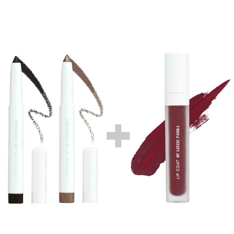 BLP Eyeshadow Charcoal Black+Crème Gold & Lipcoat Bloody Mary
