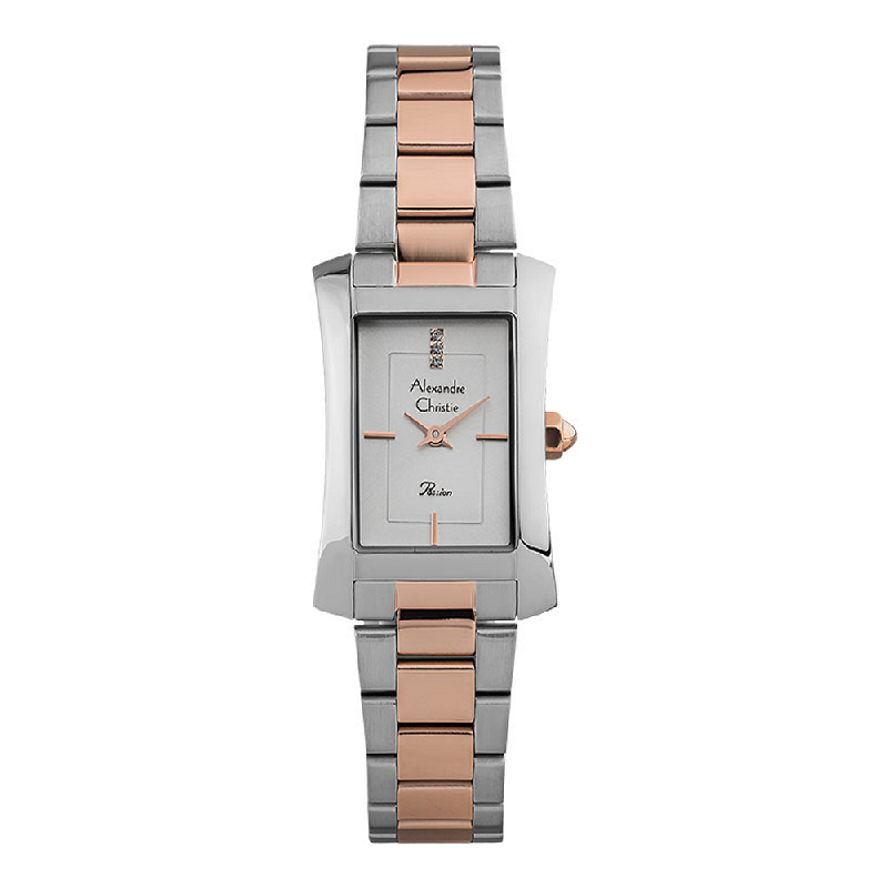 Alexandre Christie Passion AC 2905 LH BTRSL Ladies Silver Dial Dual Tone Stainless Steel Strap