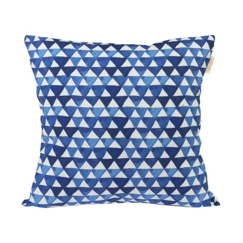 Prismatic Blue Cushion  - Biru & Putih