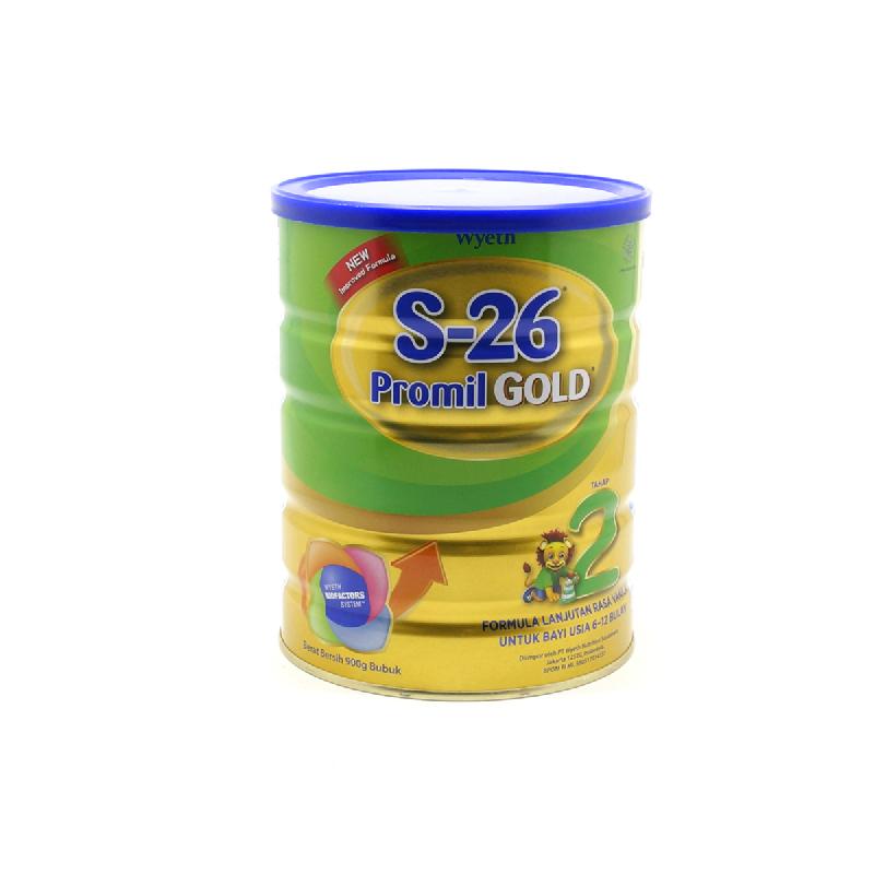 S-26 Susu Bubuk Promil Gold 2 New Tin 900gr