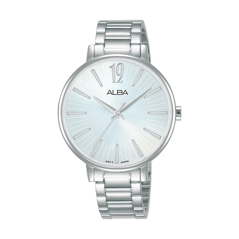 Alba AH8759X1 Ladies Silver Dial Dual Tone Stainless Steel Strap