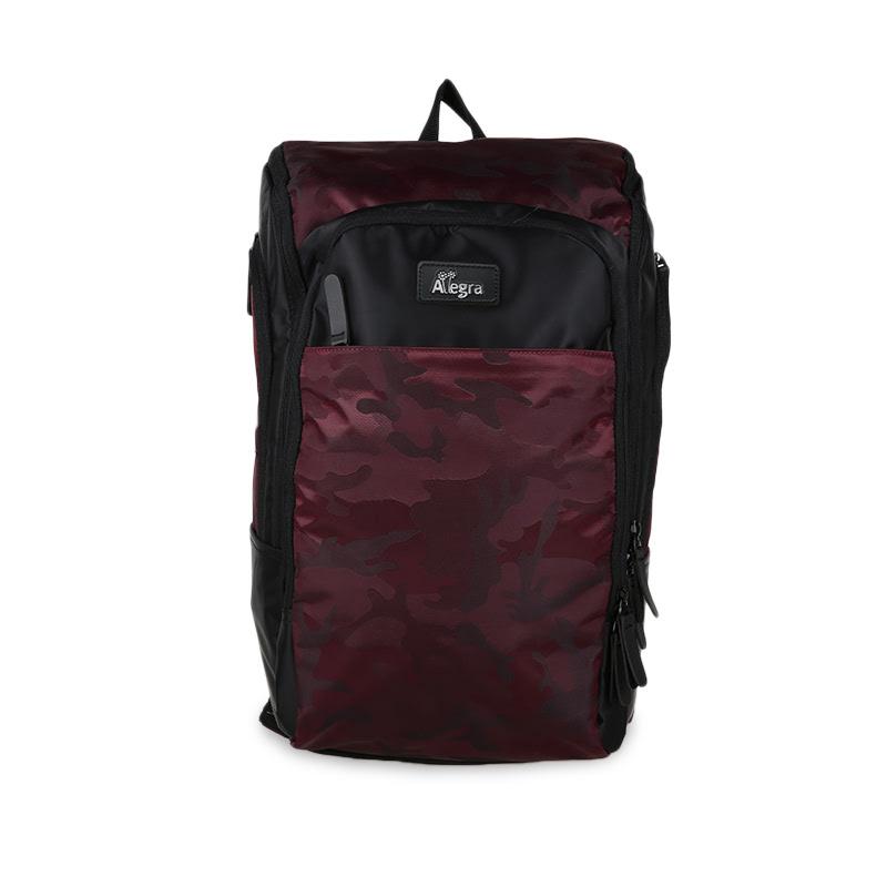 Allegra Army Cooler Diaper Bag Backpack Maroon