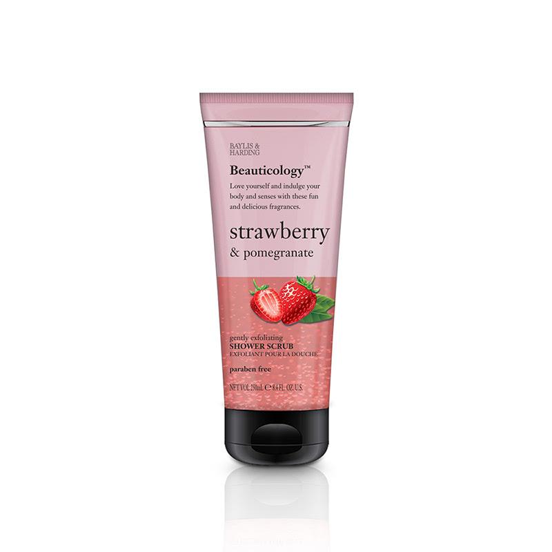 Baylis & Harding Beau Strawberry & Pomegranate 250ml Shower Scrub
