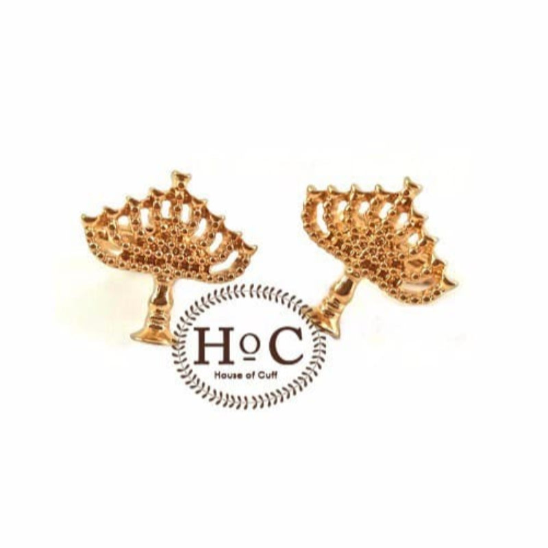 House Of Cuff Cufflinks Manset Kancing Kemeja French Cuff Golden Candle