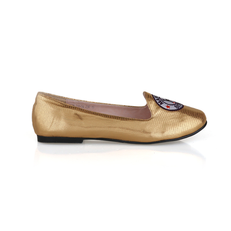 Black Martine Sitbon - Lonely Flat Shoes Gold (Size 37)