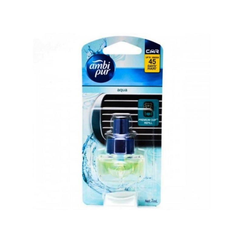 Ambipur Car Scent Premium Clip Aqua Refill [7Ml X 6]