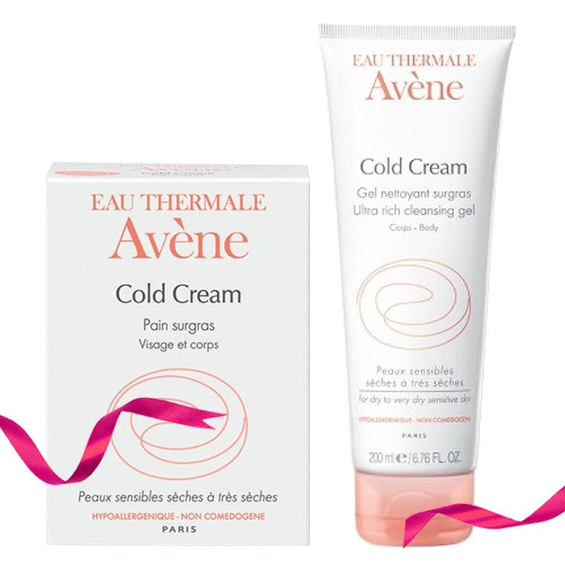 Avene Ultra Rich Cleansing Bar Cold Cream 100 ml + Avene Ultra Rich Cleansing Gel Cold Cream 200 ml