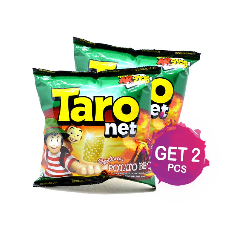 Taro Net Snack Family Barberque 36 Gr (2 Pcs)