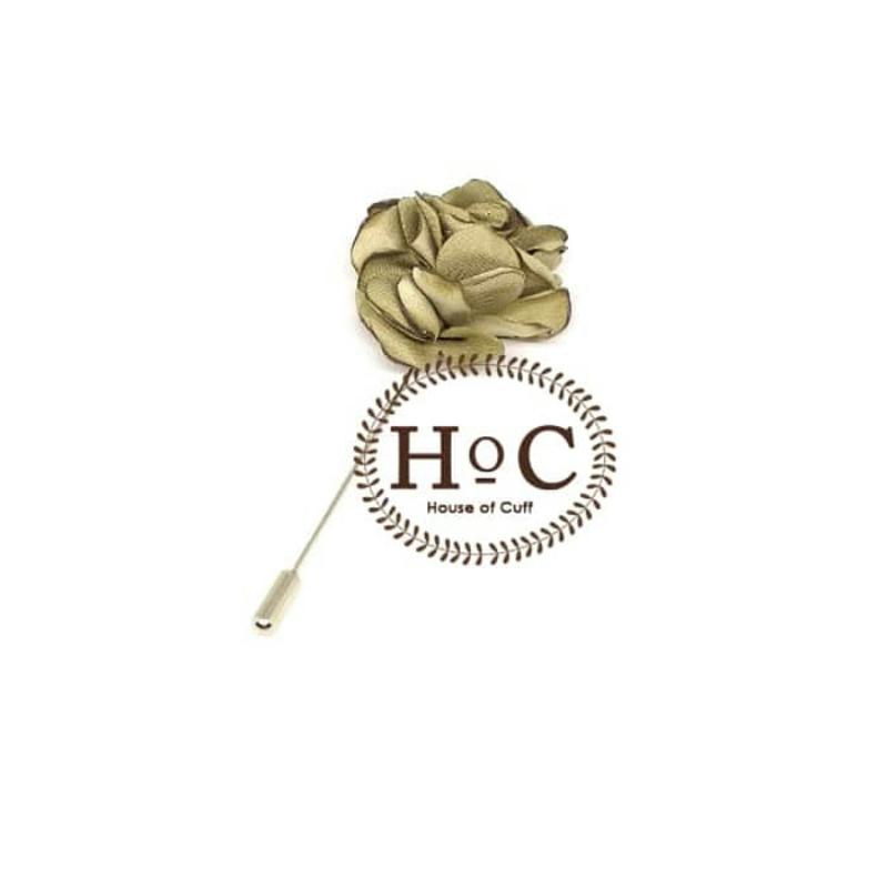 House Of Cuff Korsase Bunga Corsage Brooch Pastel Gold Flower Lapel Pin