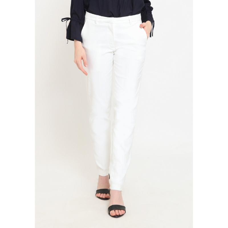 Agatha Basic White Long Pants White