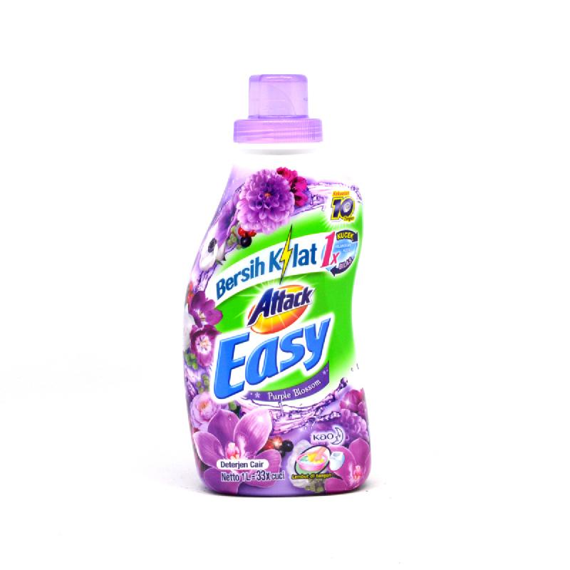 Attack Easy Detergen Cair Purple Blossom 1L