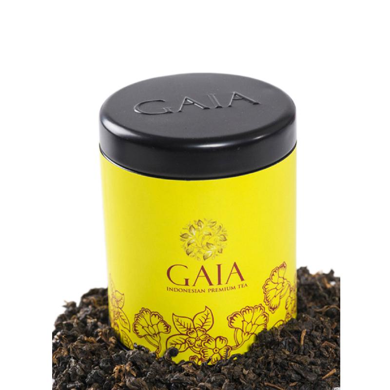 Gaia Tea - Red Pearl Lack Tea Kaleng Kecil