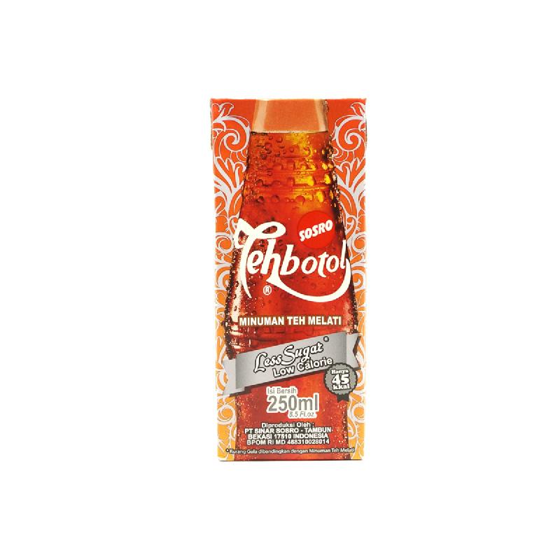 Teh Botol Sosro Less Sugar Low Calorie 250 Ml