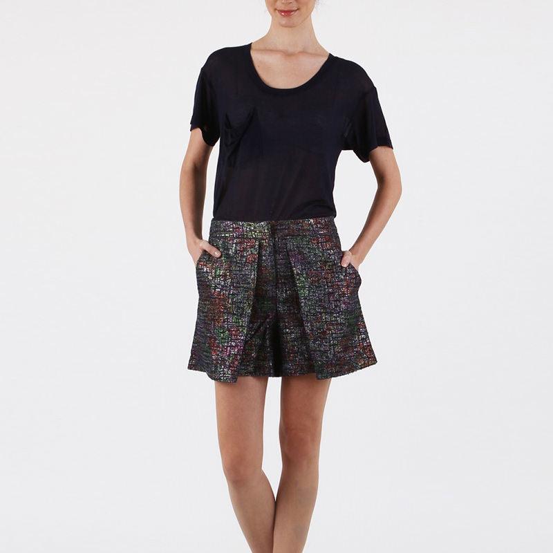 Sparkle tweed violet short