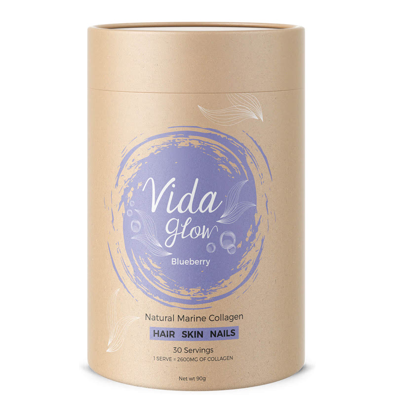 Vida Glow Natural Marine Collagen 3g x 30 Blueberry