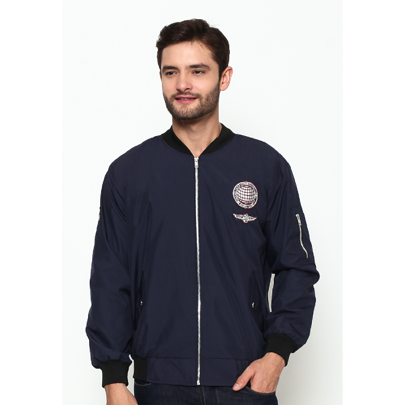 17Seven Globe Men Jacket Bomber Navy