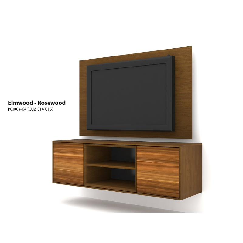 Case Cabinet TV Panel Elmwood - Rosewood PCI004-04-C15-C14