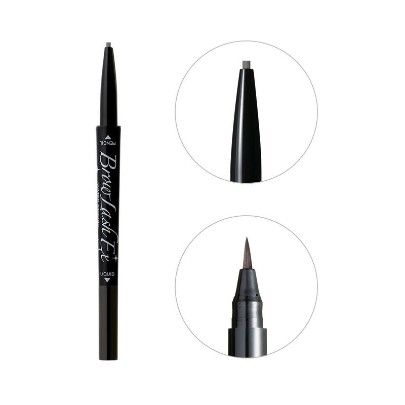 BCL Eyebrow Pencil & Liquid Grayish Brown Browlash Ex