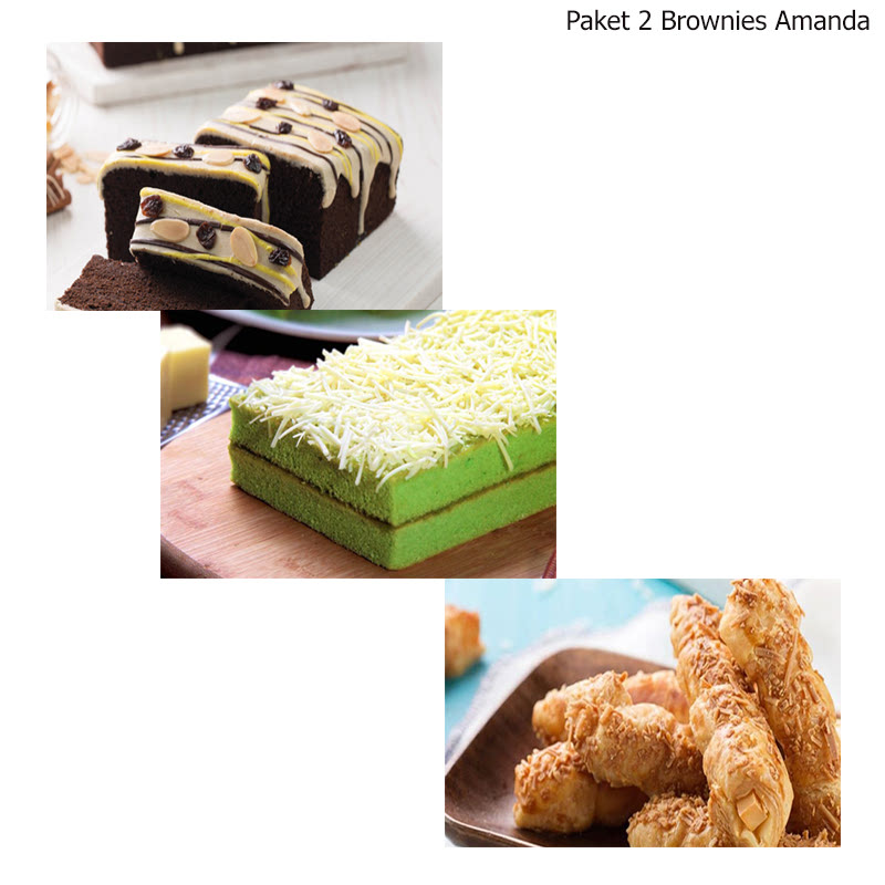 Paket 2 Brownies Amanda Ilotte