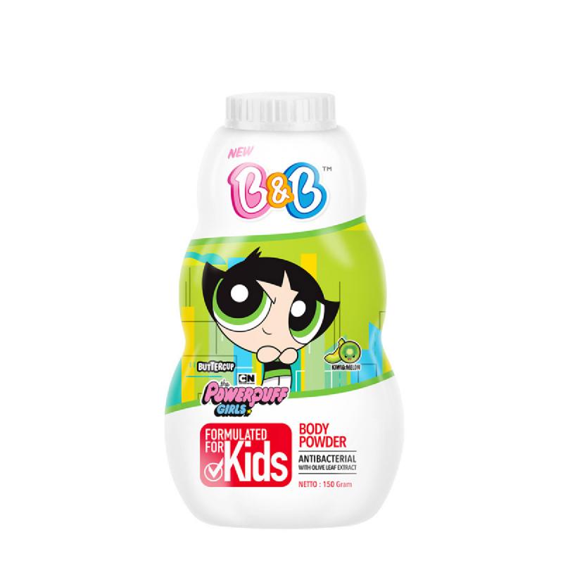 B&B Kids Body Powder Buttercup Kiwi Melon 150 Ml