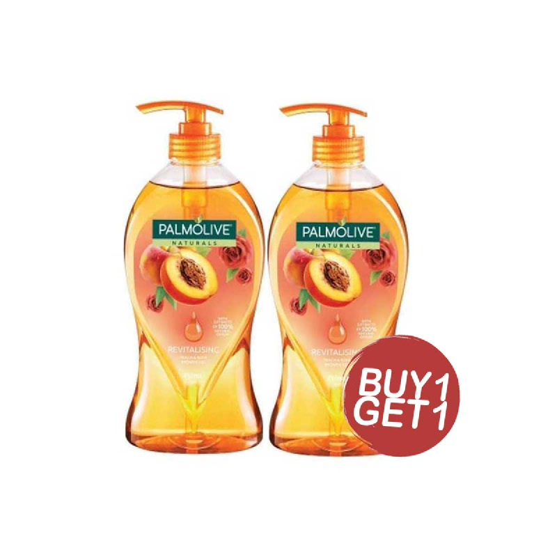 Palmolive Body Wash Revitalising Peach 750 Ml (Buy 1 Get 1)