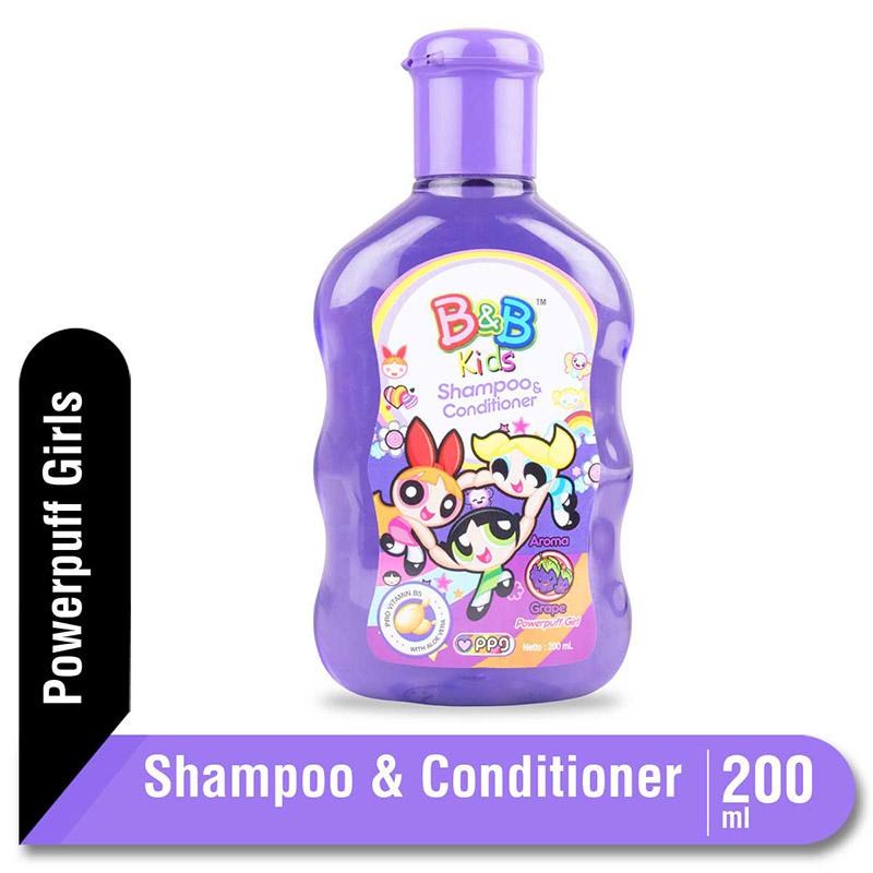 B&B Kids Shampoo and Conditioner Grape 200 Ml
