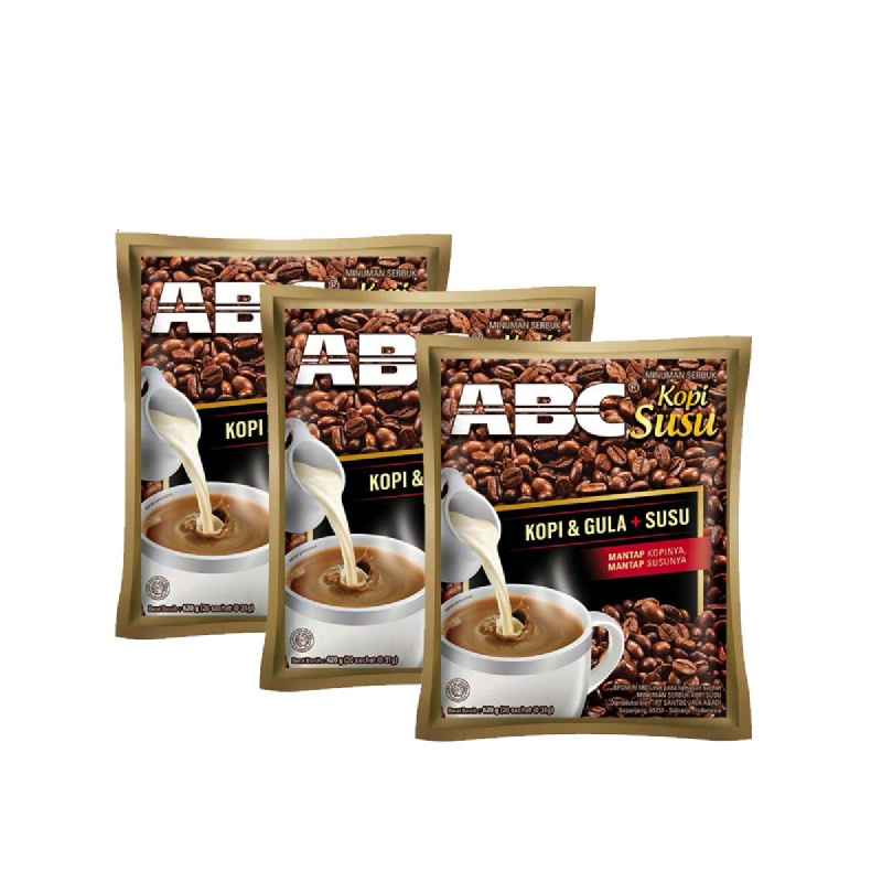 Abc Kopi Susu Bag 20'S X 31G (Buy 2 Get 1)