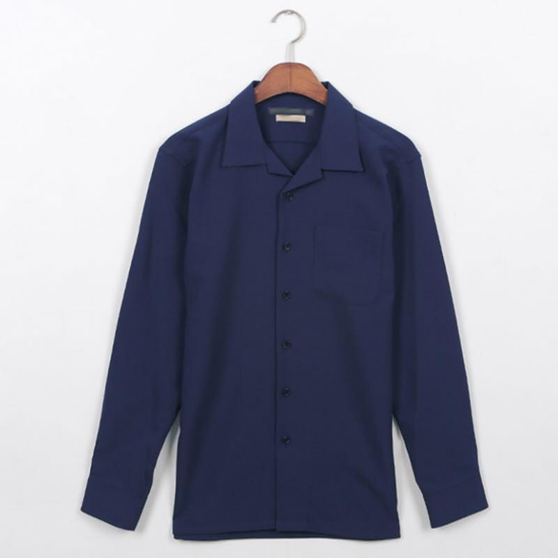Planner Open Collar Shirt Navy