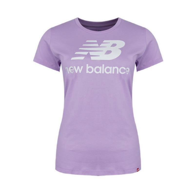 New Balance Essentials Stacked Logo Women Running Tee - Purple