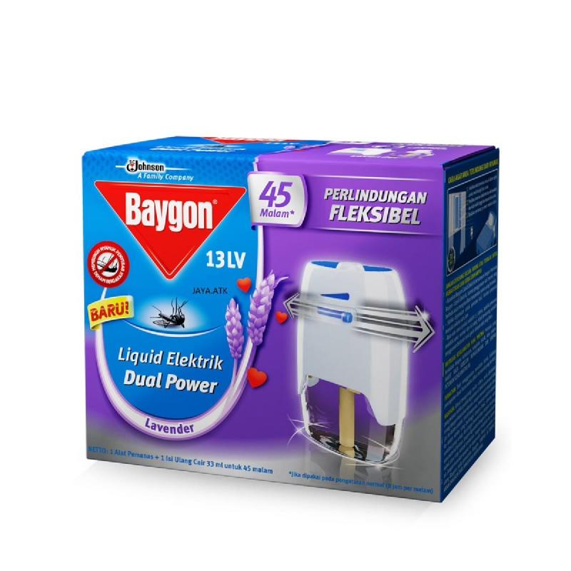 Baygon Electric Set Dual  Lavender 45 Malam