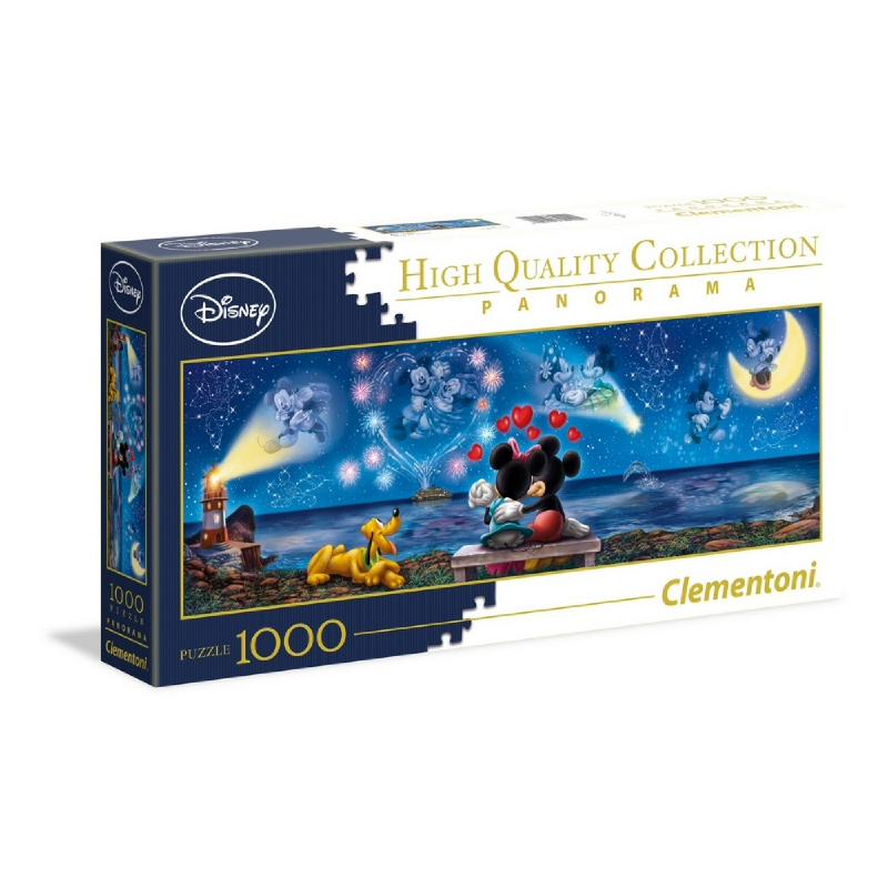 Clementoni  Disney Classic - Mickey & Minnie - 1000 parça - Panorama Puzzle