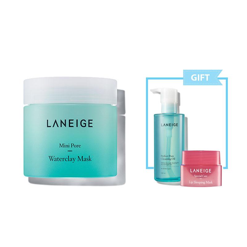 000000479604 Laneige  Mini Pore Waterclay Mask 70Ml + Lip Sleeping Mask 3G + Perfect Pore Cleansing Oil 25Ml