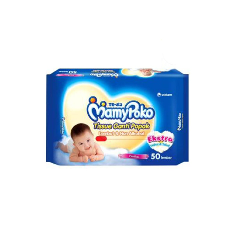 Mamypoko Tisu Basah Bayi Non Perfume 50 Sheet