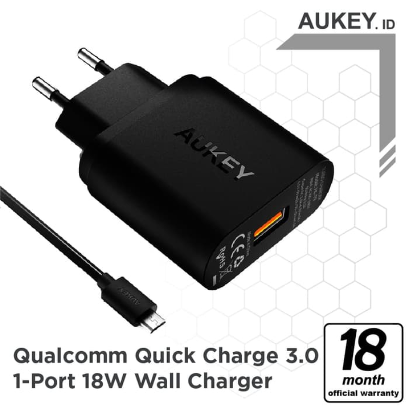 Aukey Charger 1 Port 18W QC 3.0 - 500291