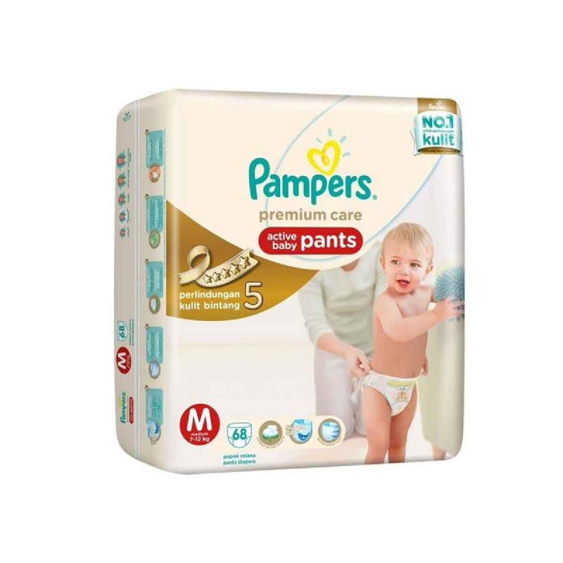 Pampers Premium Active Baby Pants Jumbo M 68