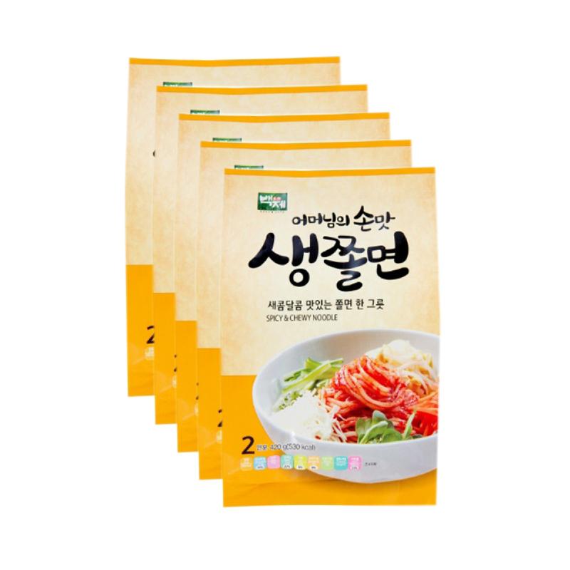 Baekje - Chewy & Spicy Noodle 420 gr 5 Pcs