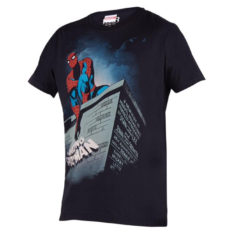 Amazing Spiderman Comic T-shirt Black