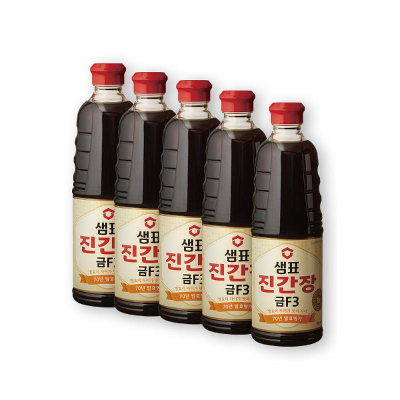 Sempio Soy Sauce Jin Gold 500 ml x 5 Pcs