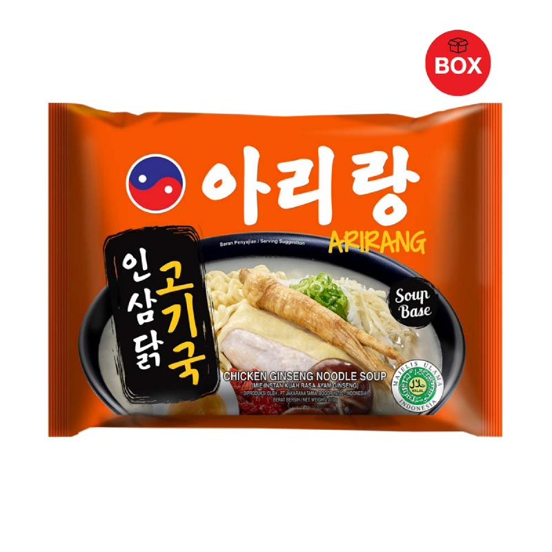 Arirang Chicken Ginseng Noodle Soup (1 Karton isi 20 Pcs)