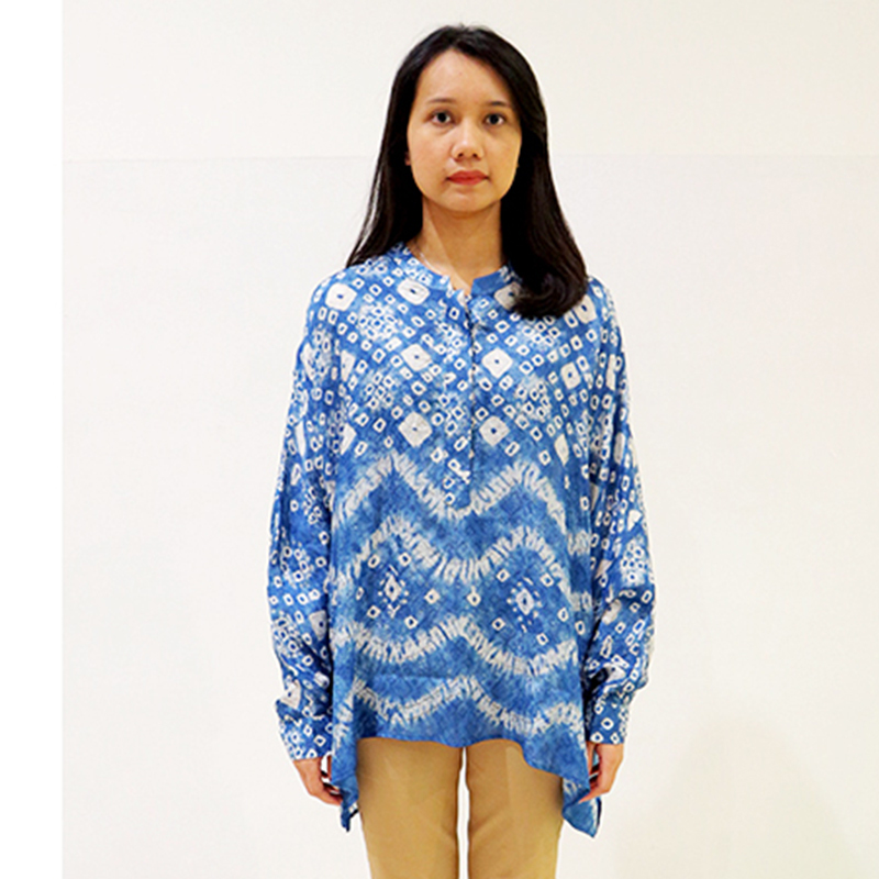 Batik Chic Manset Jumputan Biru Blue