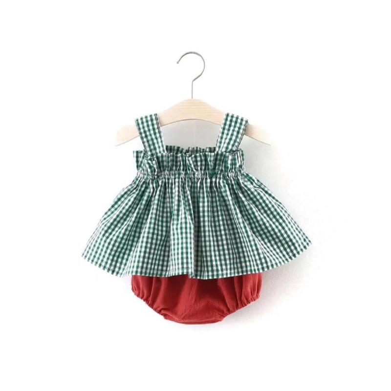 BabyLand Green Checkered Set GCS001