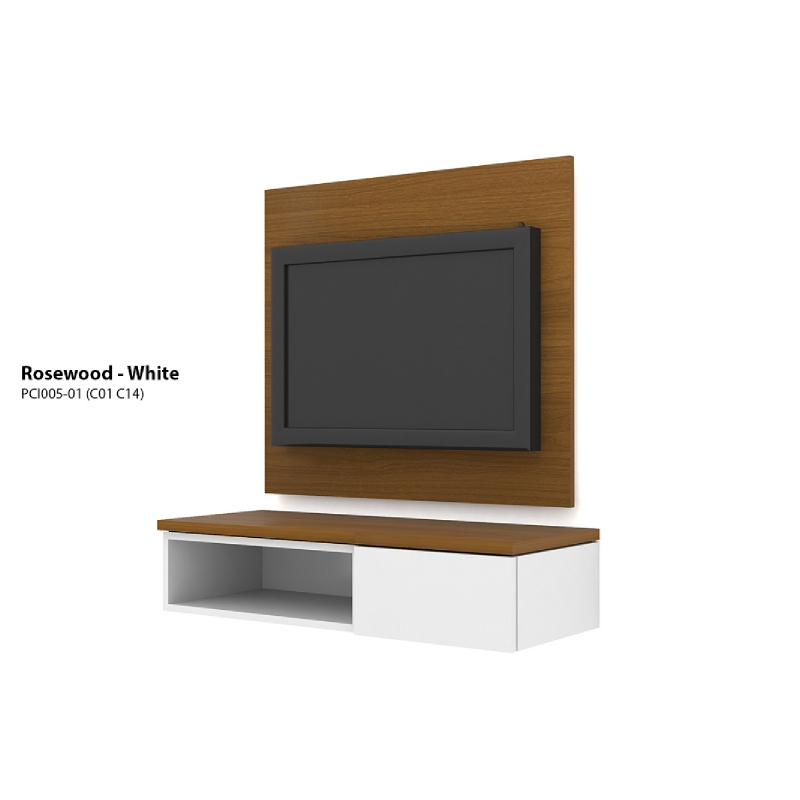 Case Cabinet TV Panel Rosewood - White PCI005-01-C14-C01