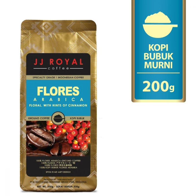 JJ Royal Coffee Flores Arabica Ground Bag 200 gr