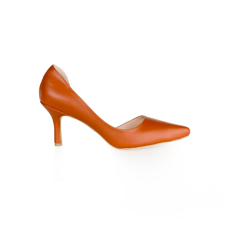 Armira High Heels D-Orsay Pointed Toe Shoes Brown