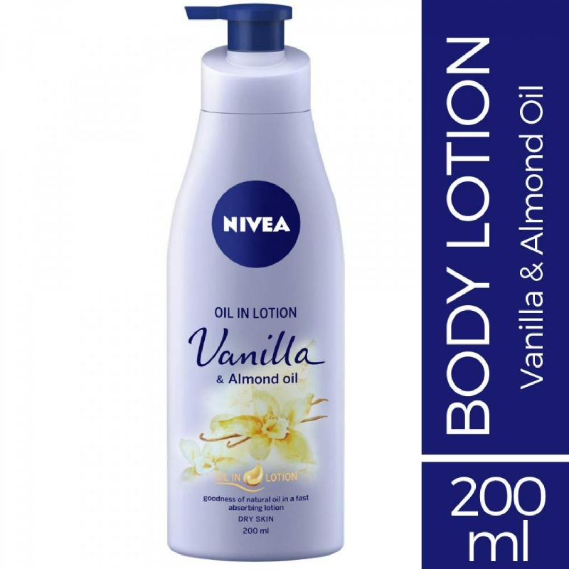 Nivea Body Oil Lotion Vanilla & Almond Oil 200 ml