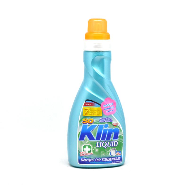 So Klin Detergen Cair Anti Bakteri Botol 1000 Ml